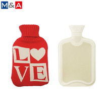 2L recyclebaar hand body hot water fles met knit cover