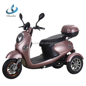Hot selling Chunlai 60V 20A 3 wheel electric tricycle scooter for adults