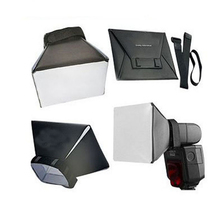 100% New Camera & Photo Professinal Foldable Flash Diffuser Softbox for Canon Nikon Sony Pentax Vivitar Hgih Quanlity Wholesale