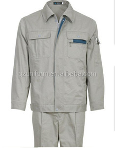 high quality TC brushed 2pieces coverall engineering uniform workwear