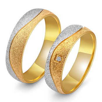 2018 New Fashion Romantic Wedding Rings For Lover Gold Color