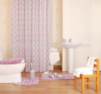 Shower Curtain Creative Coordinate Bath Set With Match Mats And PS