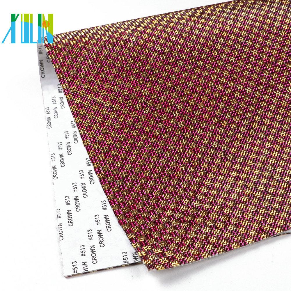 4cc21739c8841a GTA0721 Best Sale Adhesive Glue Sheet Crystal Mesh Fabric Rhinestone Green  Rhinestone Trim Wrap