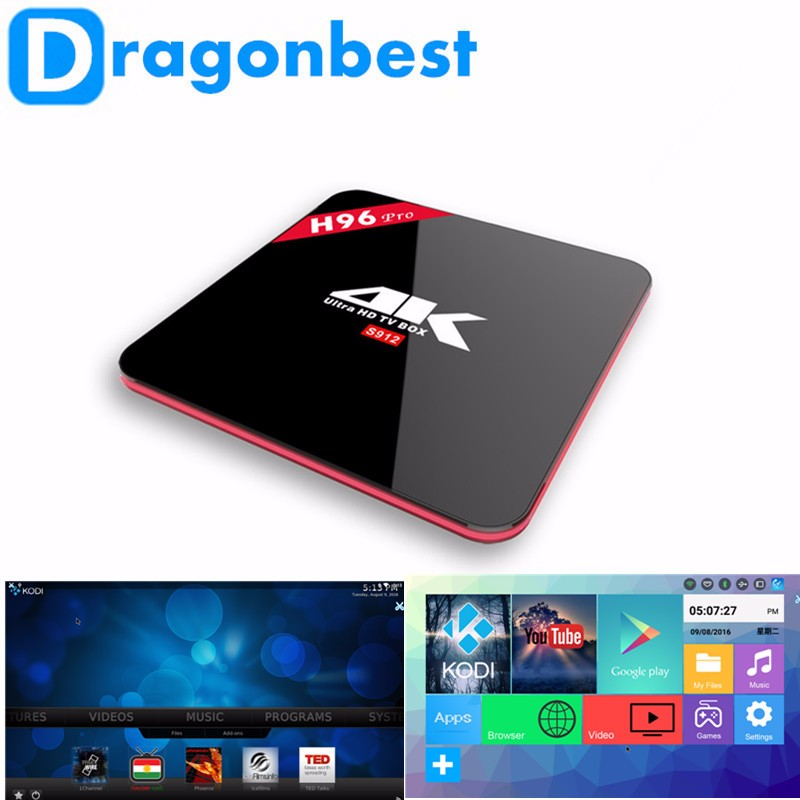 H96 pro s912 2g 16g octa core smart tv box android tv box android 7.1 best iptv receiver arabic tv box