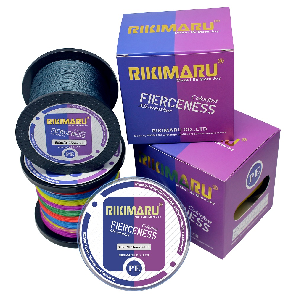 500m 4 strands 10LB-100LB Deep sea PE line multifilament braided fishing line, Any color