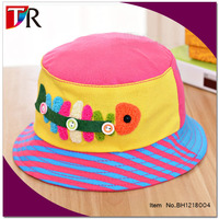 fishbone printed spring and summer sunbonnet hat cotton bucket hats for baby