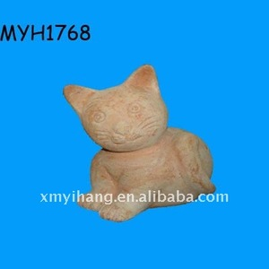new fashion and hot sale adorable terracotta kitty figurine