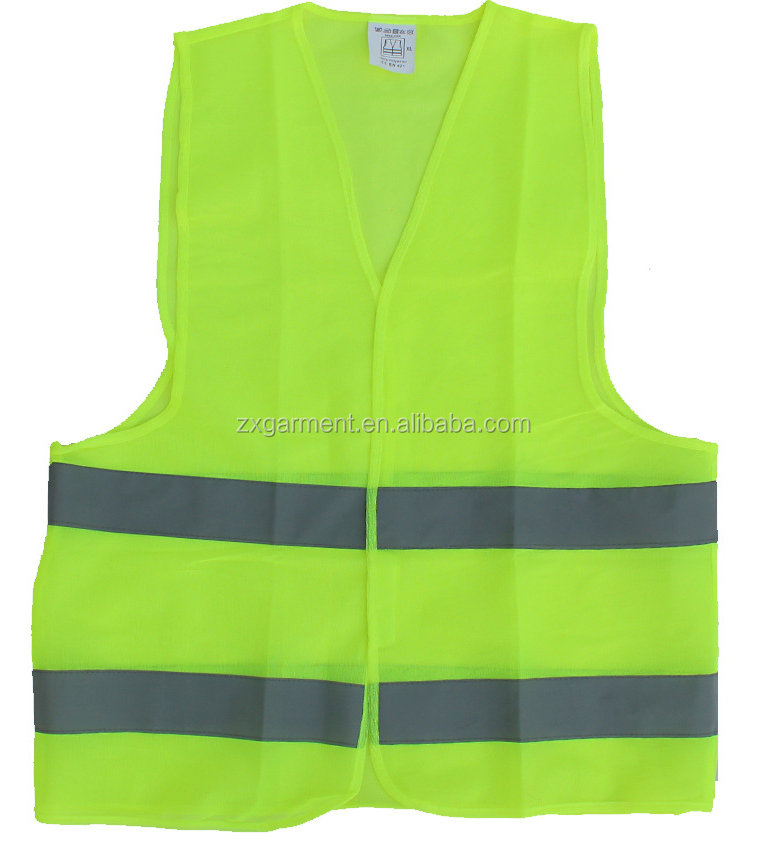 Neon Yellow 3 M Reflective Stripe Construction Work Protection Safety Vest