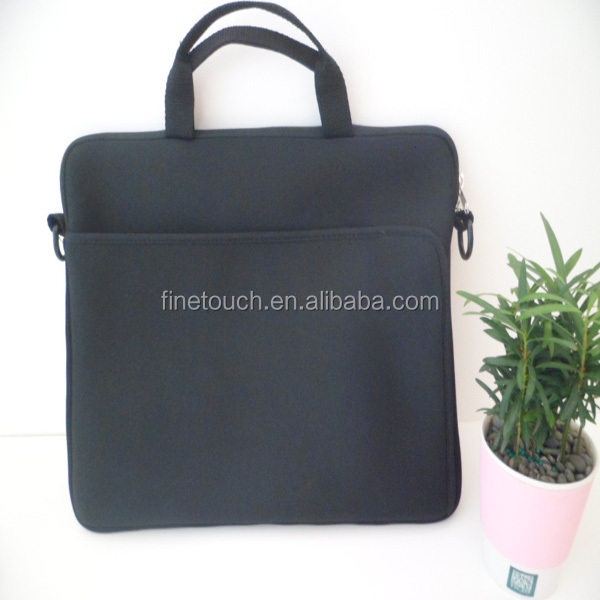 13 inch black professional neoprene business messenger laptop bag