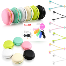 New Hot Macarons design in-ear earphones Headphones Headset For Xiaomi Samsung iPhones ipad Cute headphone for MP3 Player