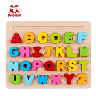 Educational kids capital letter board toy baby wooden 3D alphabet puzzle for toddler