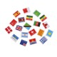 wholesale price factory various country kid pen flag eraser