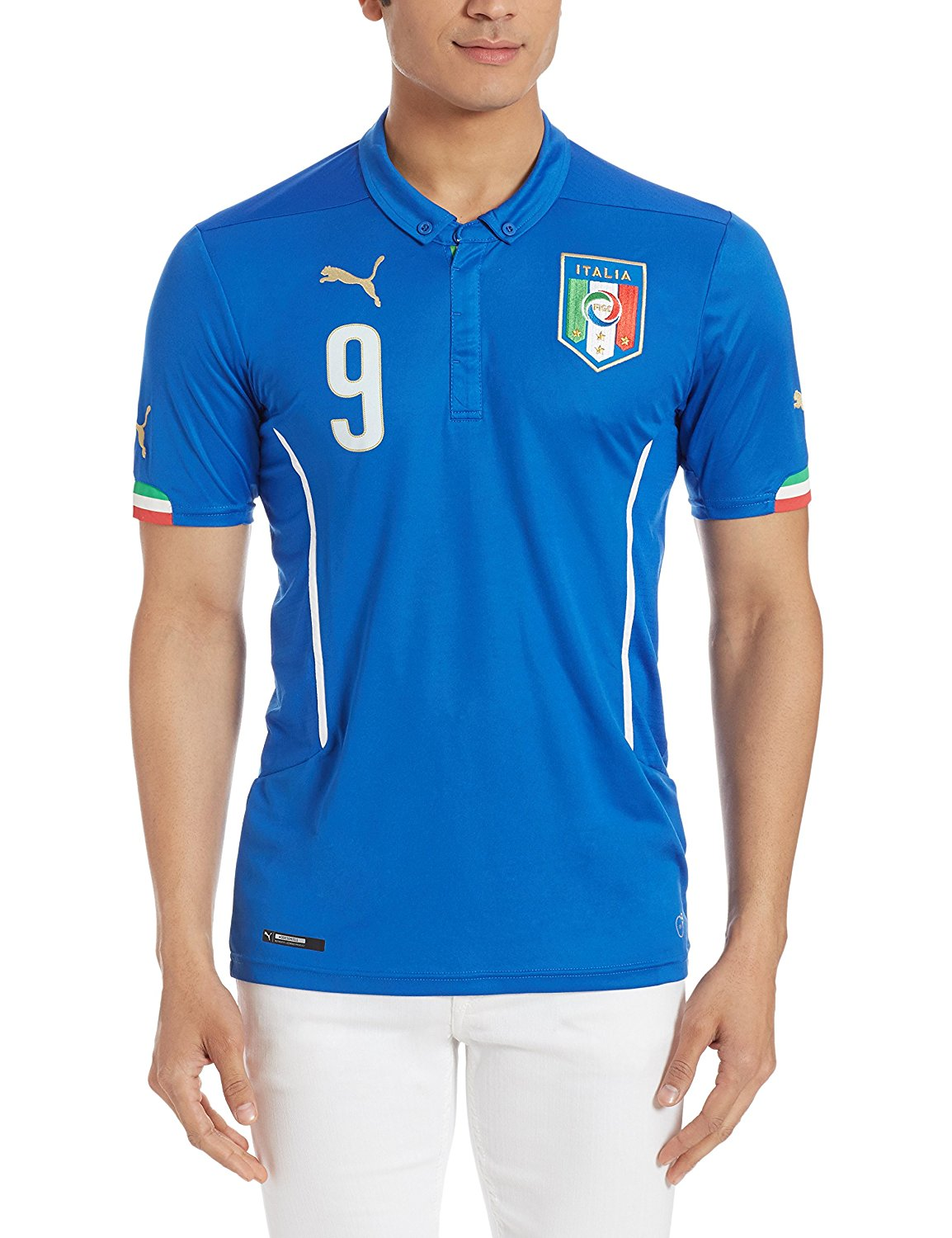 f4436e4f6 Get Quotations · Italy Home Balotelli Jersey 2014   2015