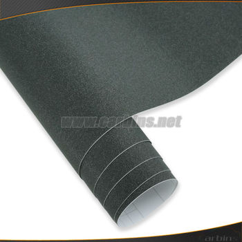 Black Diamond Sanding Pearl Vinyl Wrap Film Glitter