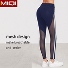Active Wear Private Label Sexy Wholesale Women Fitness Exercise Wear Tight Yoga Pants Gym Striped Side Black Mesh Leggings