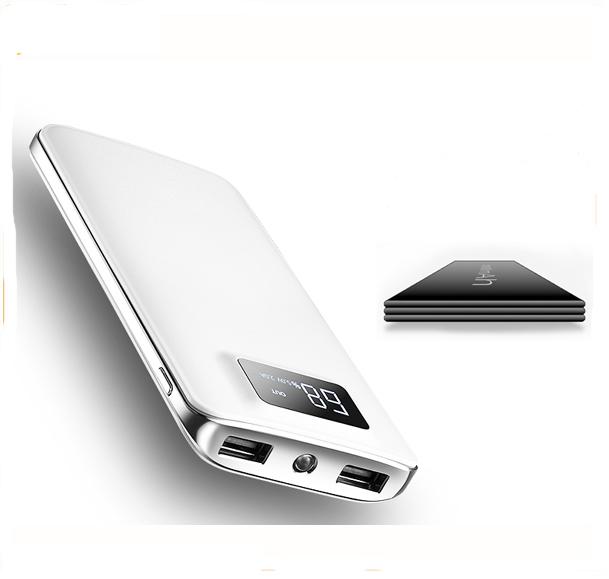 High Quality LED light PowerBank Custom Logo Mini Mobile Charger Power Bank Li-Polymer Battery Power Supply for Smart Phone фото