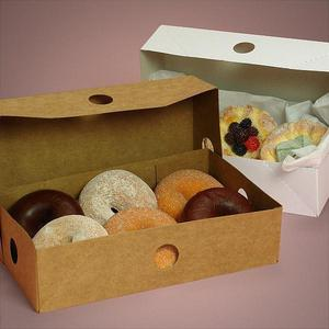 Sturdy Natural Kraft paper Donut boxes/cookies boxes/Deli Boxes