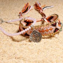 Женский браслет на щиколотку MOON GIRL, 2 шт., с кристаллами в богемном стиле, ручной работы, Прямая поставка(Китай)