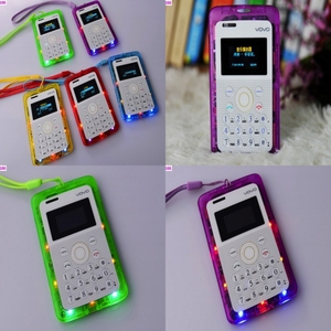 NO.166 - Transparent Style Kids Cardphone Colorful Style With Running Light Children Cellphone