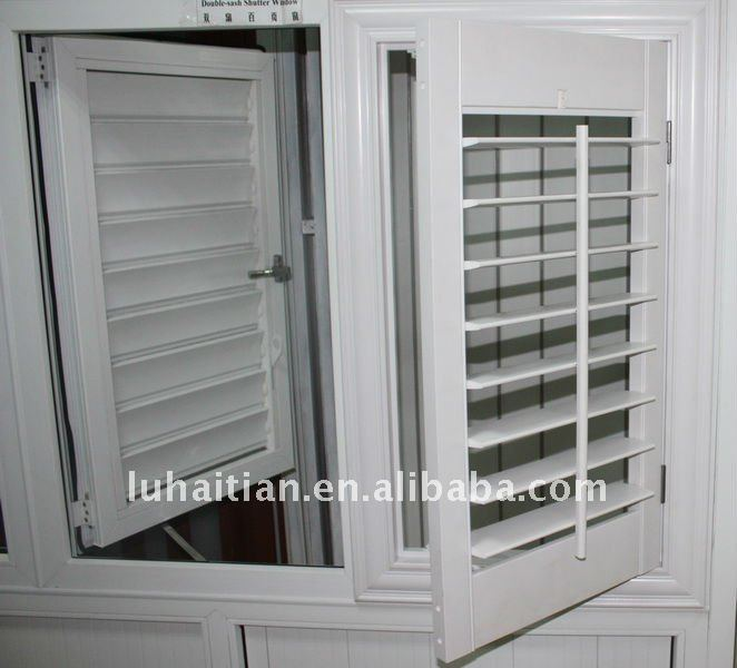 American Style Upvc / Pvc Louver Shutter Windows   Buy Upvc Shutter Window,Operable  Louvers,Upvc Louver Shutter Window Product On Alibaba.com
