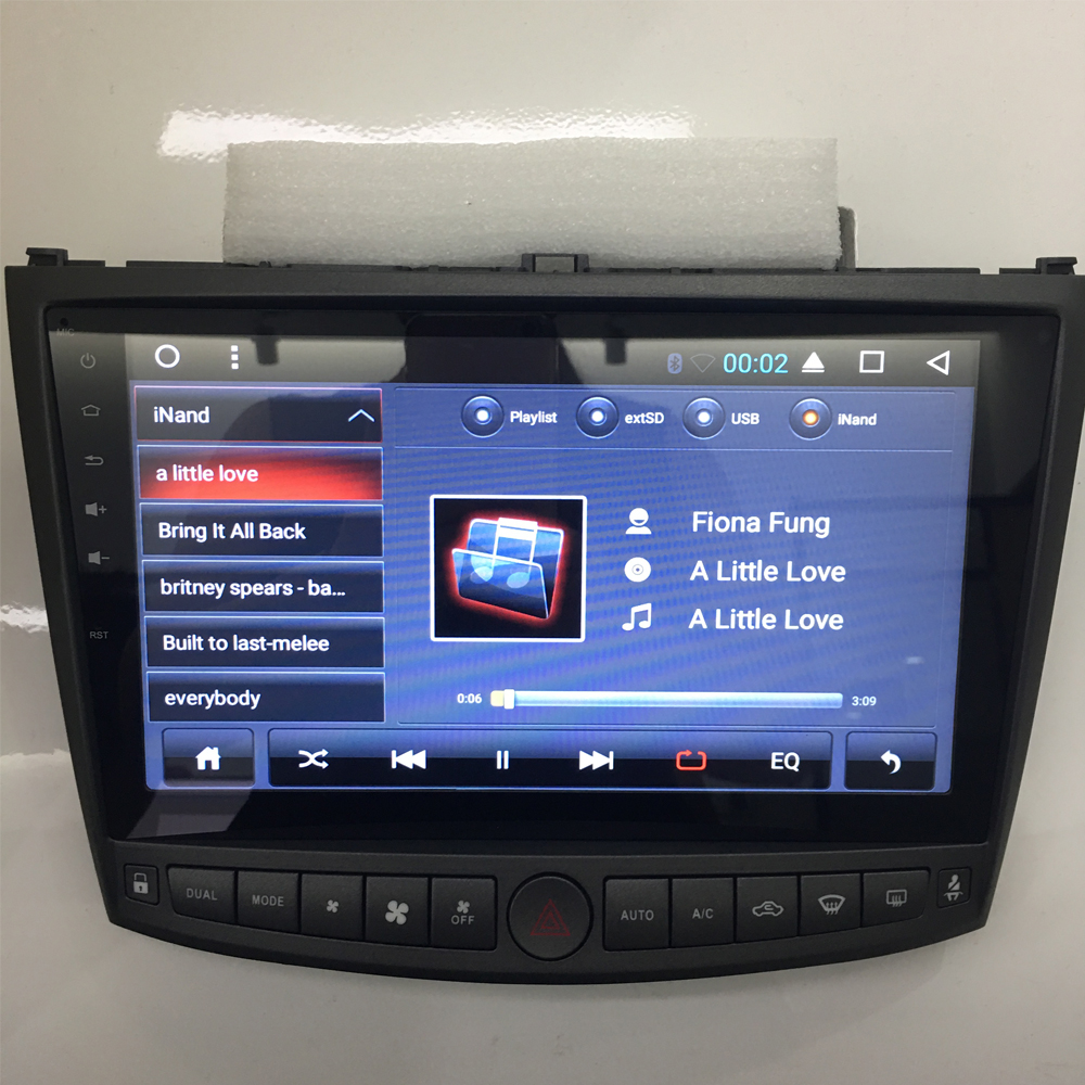Lexus IS 200 2006 200702008 android car dvd stereo with 10inch screen builit in wifi gps 1024x600 high definition screen