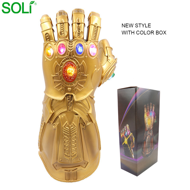 Marvel movie hot led light hand guante infinity glove costume thanos toys