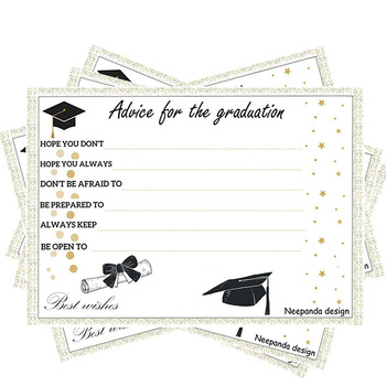 Class Of Grad Favors Decorations Activities Invitations And Games  Graduation Party Advice Cards For The Graduate - Buy Graduation Party  Advice
