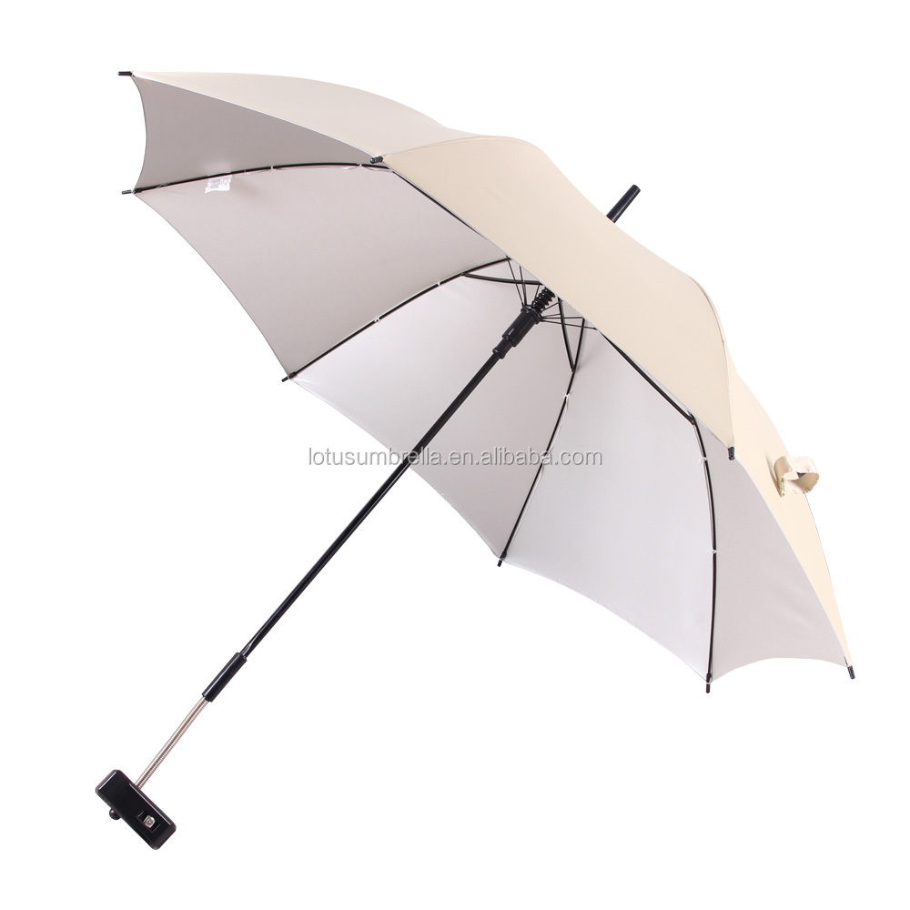 Fishing Unique Clamp Style Umbrella with UV function for Beach Folding Chair