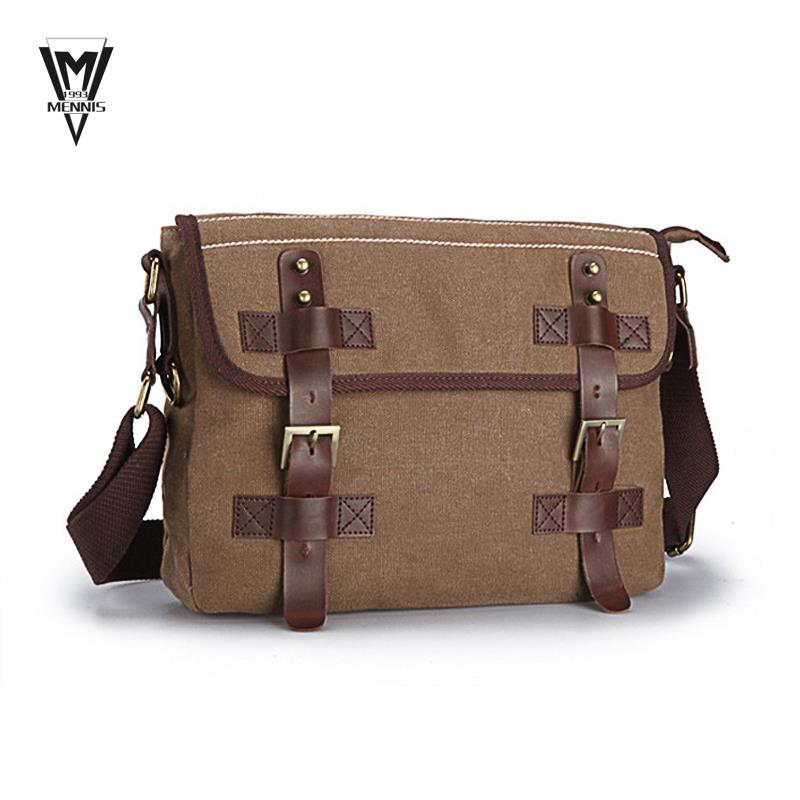 2015 NEW Hotsale fashion Men's Travel Bags Cotton Canvas Vintage Messenger Bags Casual Shoulder Bags Brown  for Men outdoor