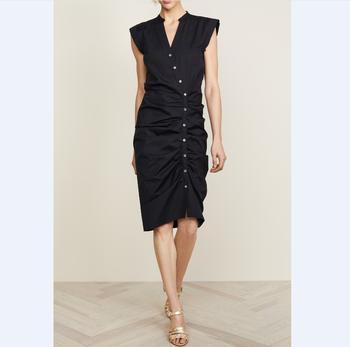8fe33837378 Fashion Clothing For Women Dress Summer Trending 2018 Arrivals Split V  neckline Sleeveless Work Elegant Ladies