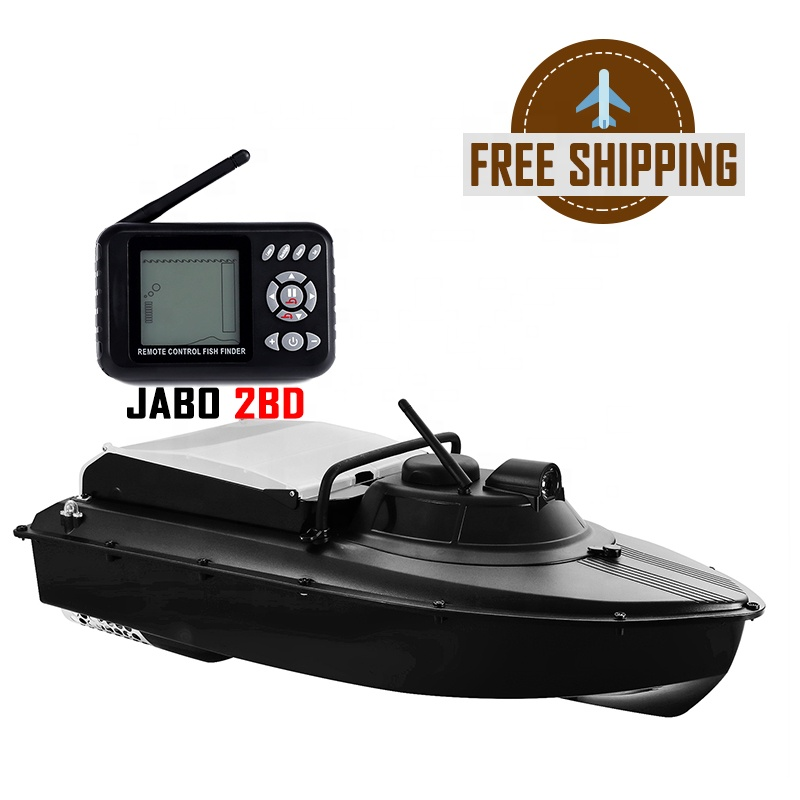 Europe free shipping JABO 2BD 2.4G Fishing Lures Bait Boat Sonar Fish Finder Detector Ready to Ship Shenzhen