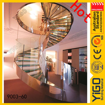 Rounded Stairs Design / Circular Steel Stair