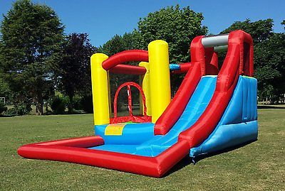 SPLASH AND SLIDE INFLATABLE BOUNCY CASTLE, BOUNCE AREA, SPLASH POOL, SLIDE