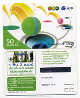 Good Quality Printed Prepaid Paper Scratch Cards for mobile phone