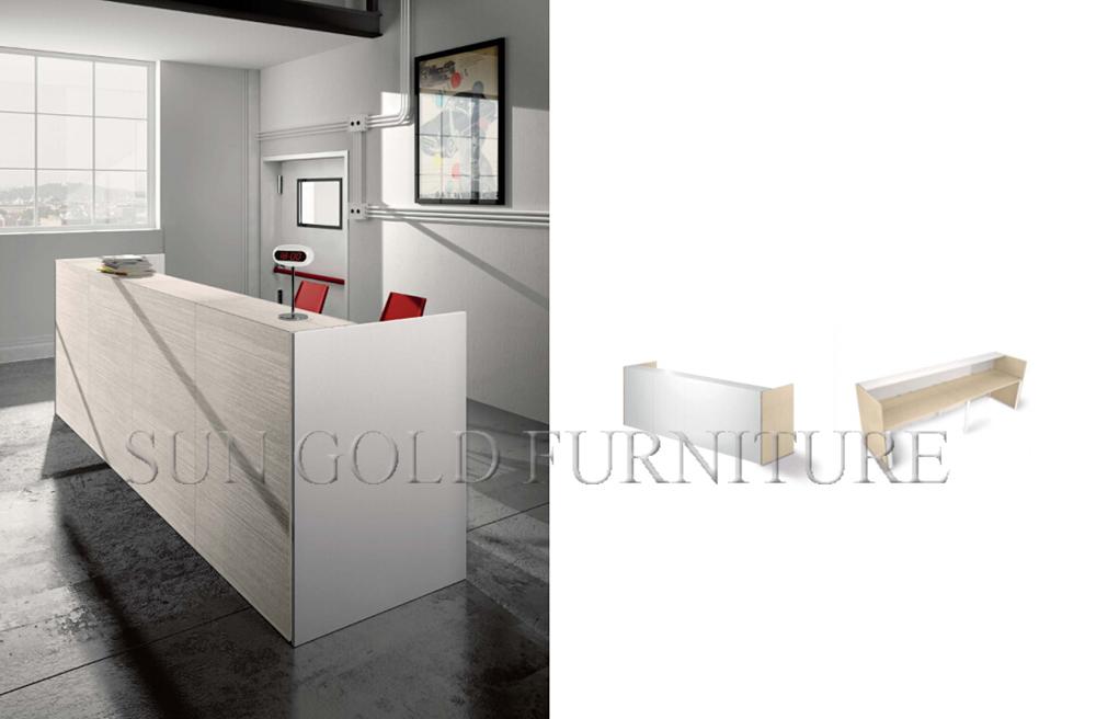 Reception Ufficio Legno : Popolare in legno per ufficio anteriore bianco moderno reception