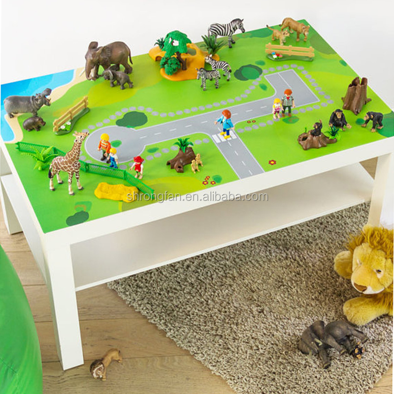 Custom Printing Furniture Sticker Small Play Table Decals For Your Kids Room