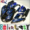 8Gifts+Injection mold blue flames black ABS article ZX-14R 2006 2007 2008 2009 2010 2011 ZZR1400 motorcycle Ninja Fairing for Ka