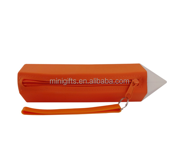 Logo Printed silicone Pencil Bag With Zipper pencil case for teenagers