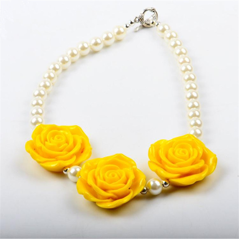 Buy sale girls cute yellow big roses flower necklace acrylic pearl buy sale girls cute yellow big roses flower necklace acrylic pearl jewelry charm chunky toddler cheap bubble beaded flower necklaces in cheap price on mightylinksfo