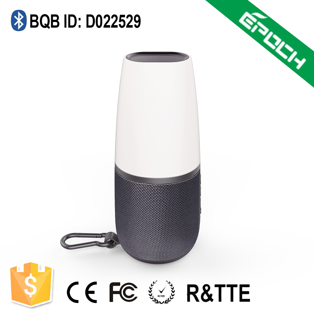 2017 Patent Design Eight kinds of Colorful LED light Wireless Bluetooth Speaker for Camping Party