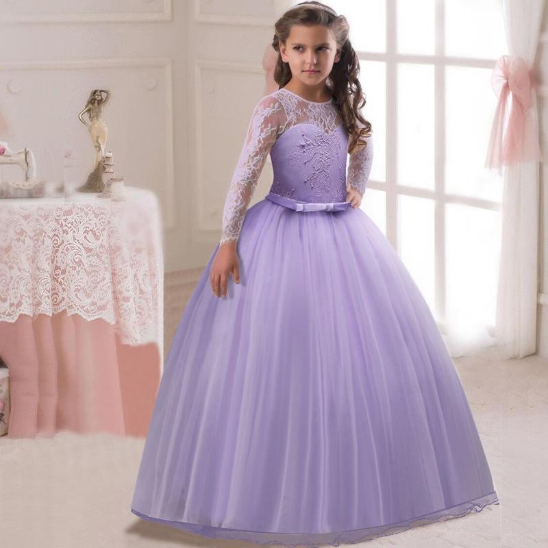 27c1cff54 Torta de flor niños ropa elegante mano cordón vestidos de las niñas para  niños princesa fiesta