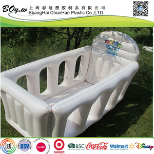 ICTI factory new design testing safety eco-friendly guard bar infant climbing white inflatable baby air bed