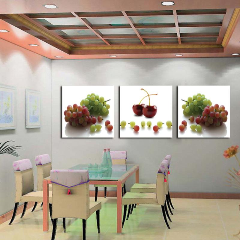 3 Piece picture  grape fruit Modern Home Decor painting Canvas Art high definition Print Painting for living room LKB-ZH-232