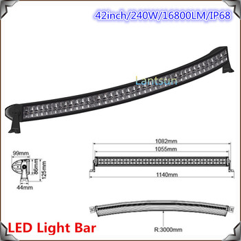 240w 4x4 cree led car light42curved led light bar off roadauto 240w 4x4 cree led car light 42quotcurved led light bar off road mozeypictures Gallery