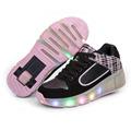 2016 summer Breathable Child LED Heelys Roller Skate Shoes With Wheels Girls Boys Light wheelys Kids