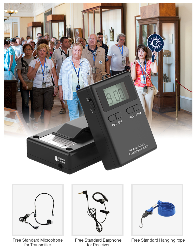 RichiTek RC8860 One Way Audio Guide System Tour Guide System For Museum
