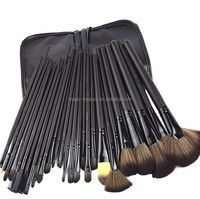 32 pcs Cosmetic Make up Brush Set with Leather Case