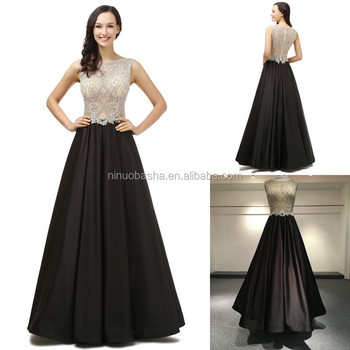 NS670 Bling Diamonds Top with Elegant Swing Skirt Evening Dresses