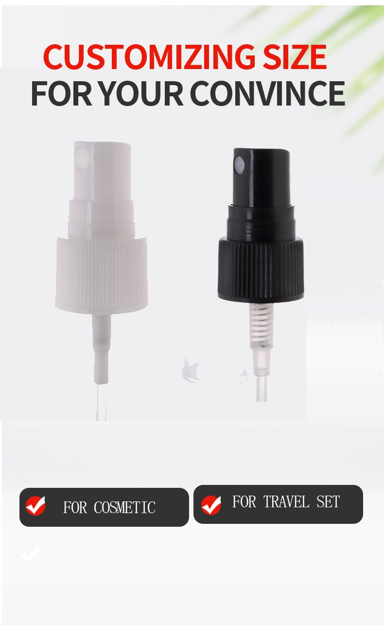 UV Golden Plastic Plastic Sprayer for Perfume