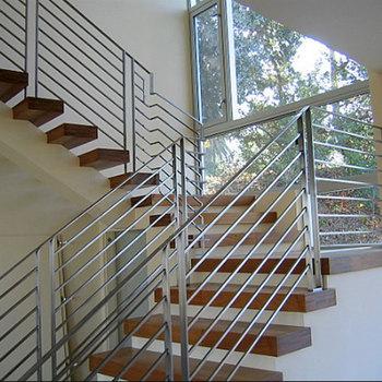 Stair Railing Staircase Handrail Design/ Modern Design Stainless Steel Pipe  Railing